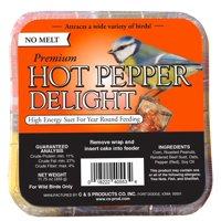 C&S Hot Pepper Delight No Melt Suet, 11.75 Ounce Cake, Wild Bird Food