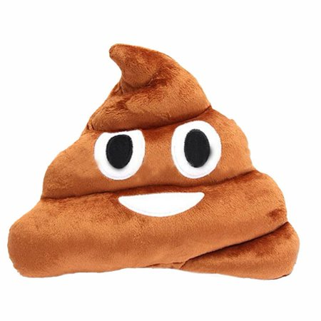 Smiling JuJu Stuffed Pillow Cushion Emoji Poop Shaped Smiley Face Doll Toy