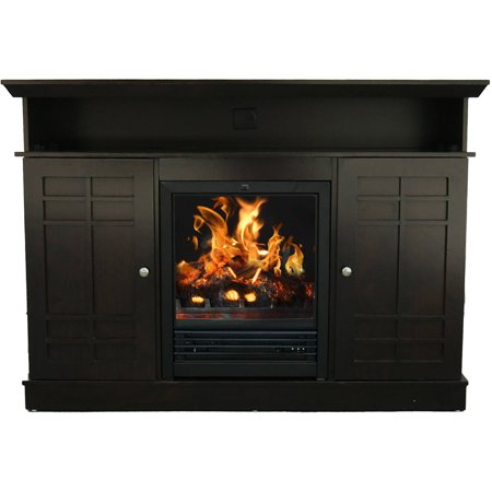 D;cor Flame Bailey 48″ Media Fireplace, for TVs up to 55″, Dark Chocolate