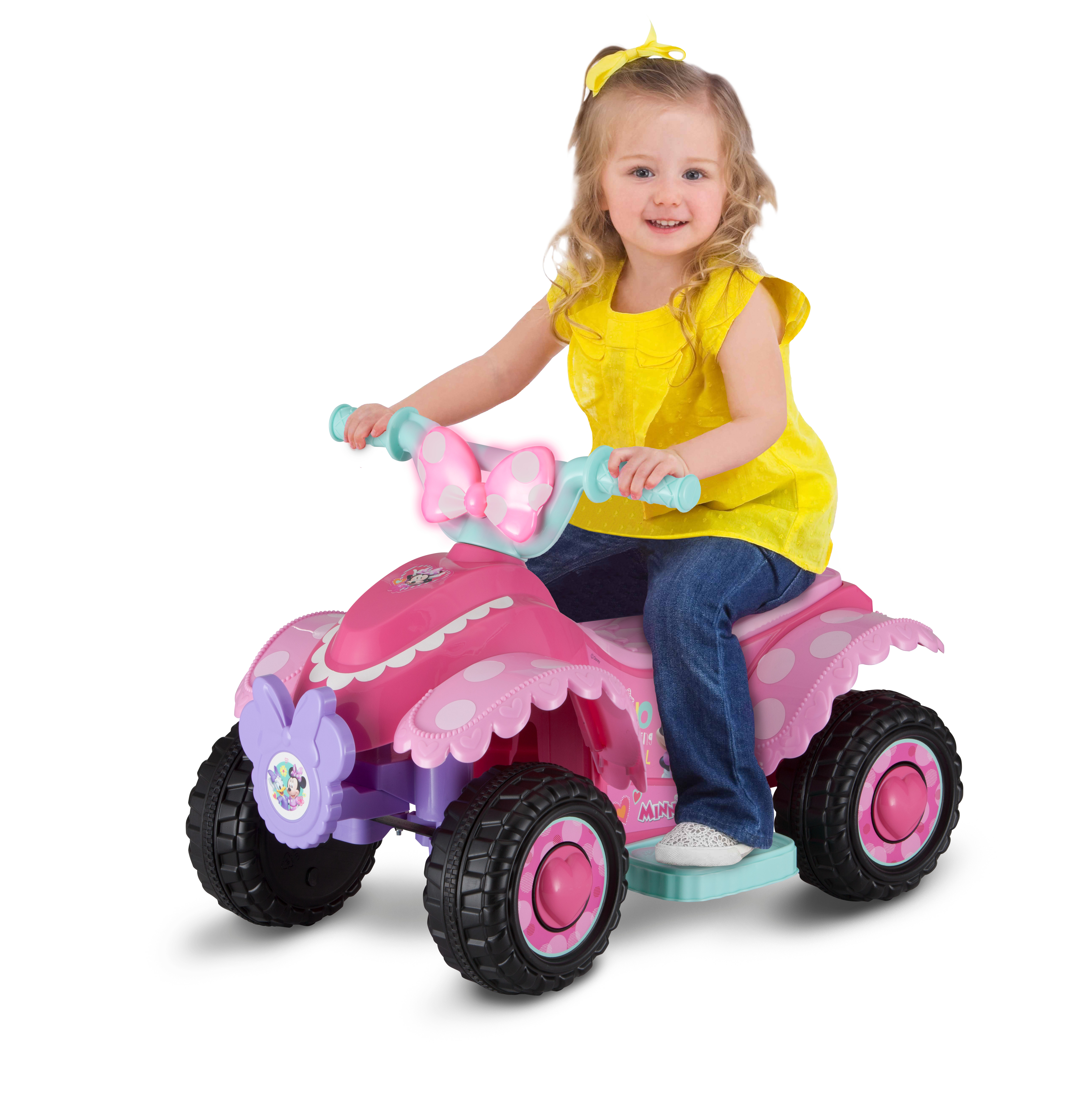 Disney Minnie Mouse Happy Helpers 6V Battery Powered Ride-On Quad (Styles May Vary)