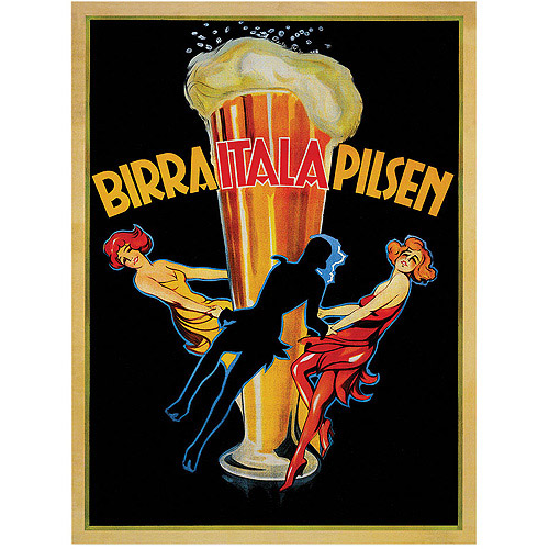 "Trademark Fine Art ""Birra Italia Pilsen!"" Canvas Art"
