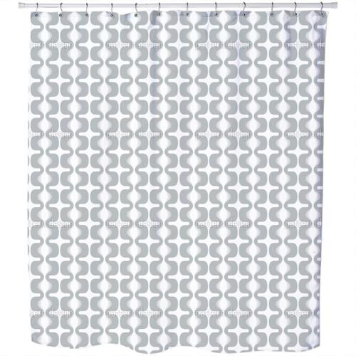 Electric Grey Shower Curtain Extra Long (70 inches X 90 inches)