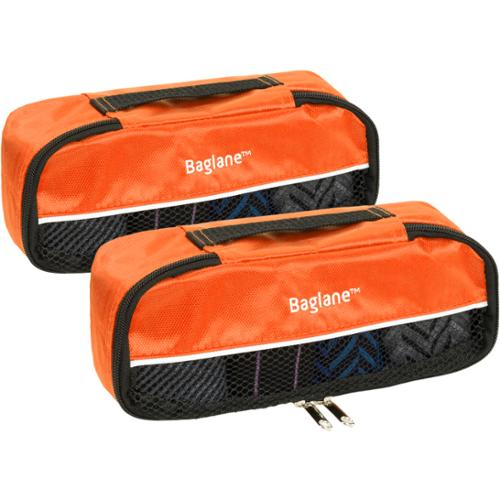 Baglane Orange TechLife Nylon Luggage Travel Packing Cube Bags 2pc Set (X-Small)
