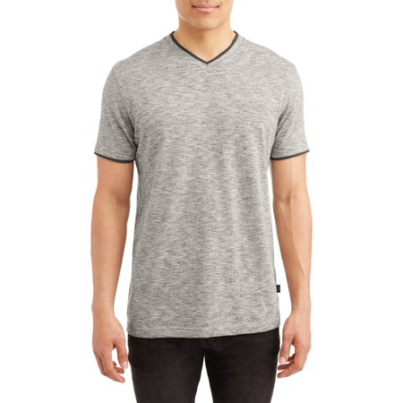 - Lee Men's Short Sleeve Textured Jersey V-Neck Tee, Available Up to Size 2XL