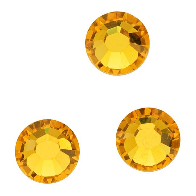 Swarovski Crystal, Round Flatback Rhinestone Hotfix SS20 4.6mm, 50 Pieces, Sunflower