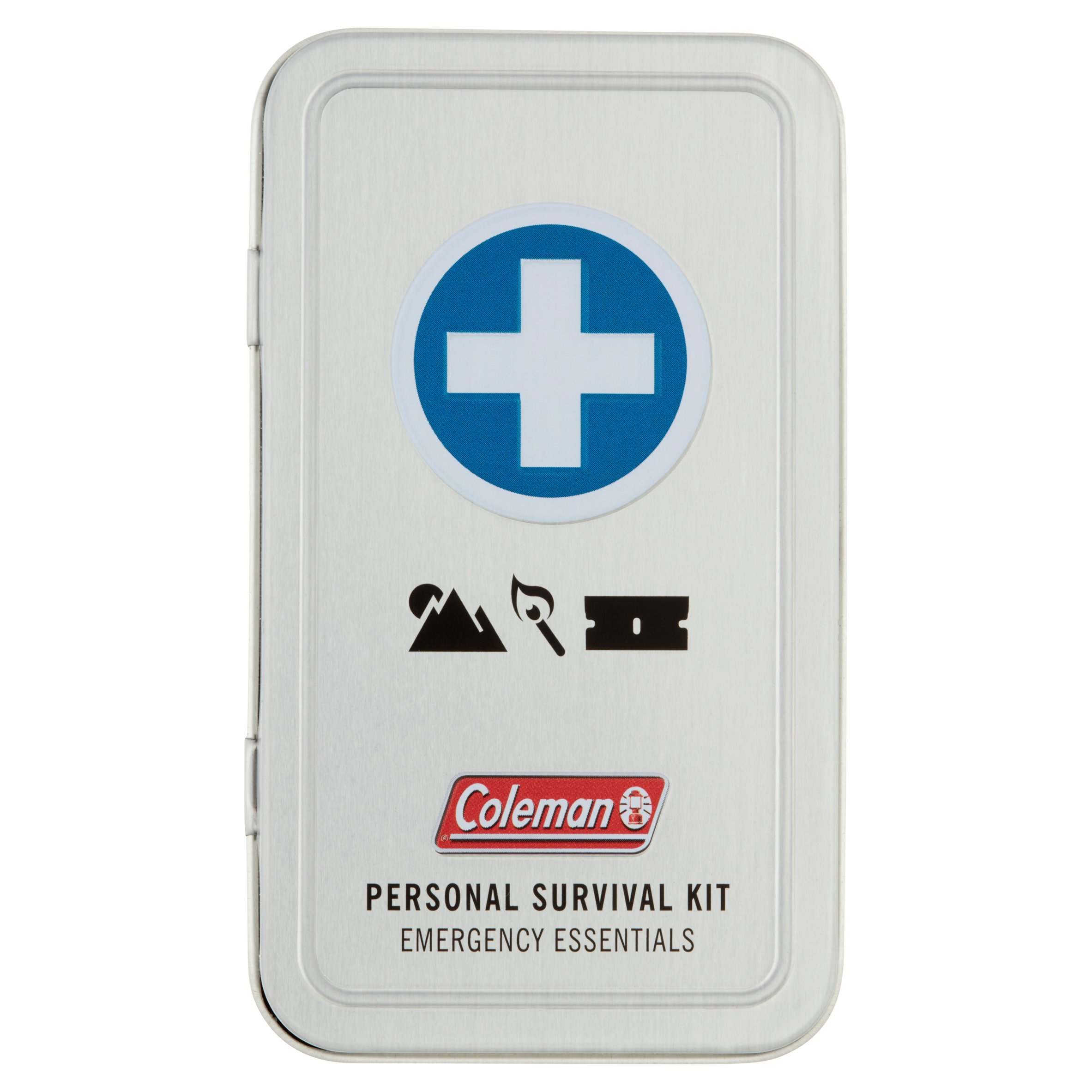 Click here to buy Coleman Personal Survival First Aid Tin 74 pieces by Wisconsin Pharmacal Company.