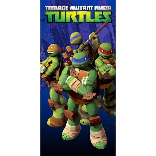 Nickelodeon TMNT Teenage Mutant Ninja Turtles Turtle Jump 100% Cotton Beach Towel Featuring The Turtle Gang in