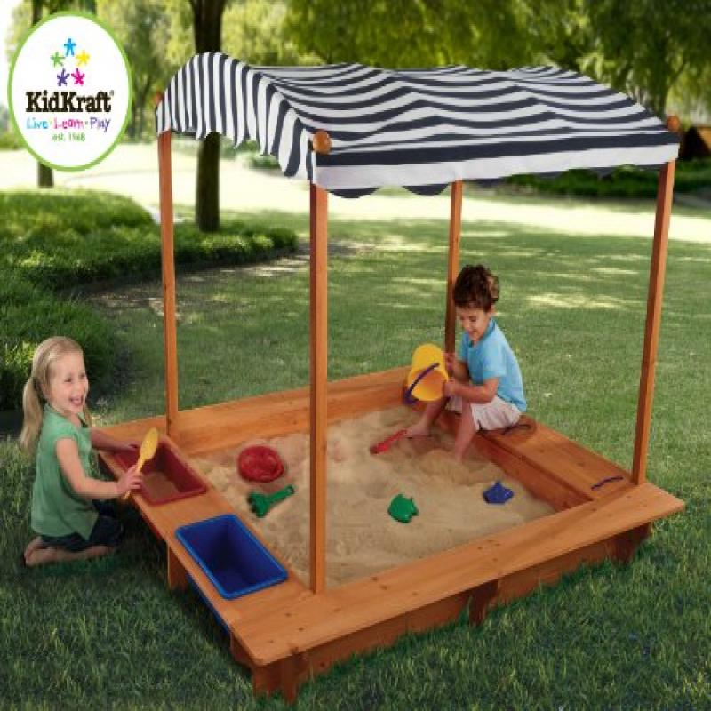 Kid Kraft Outdoor Sandbox with Canopy