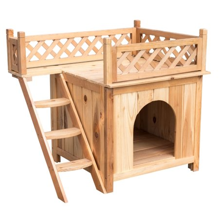Sundale Outdoor Deluxe Wood Cat House Indoor Dog House,Wooden Indoor ...
