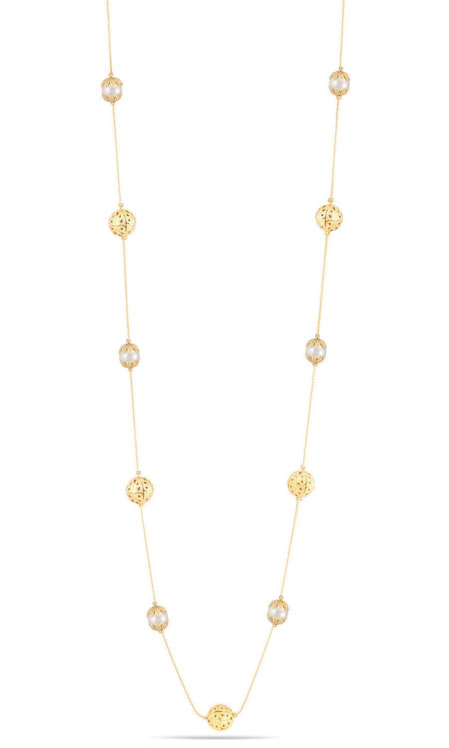 TAZZA GOLD-TONE CREAM FAUX PEARL AND CRYSTAL JEWELRY