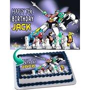 Voltron Legendary Defender Edible Cake Topper Personalized Birthday 1/4 Sheet Decoration Custom Sheet Birthday Frosting Transfer Fondant Image