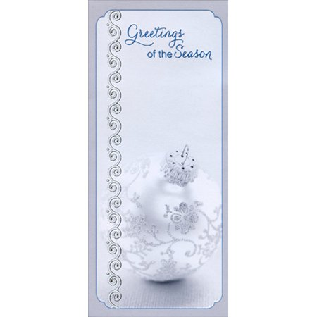 Designer Greetings Silver Ornament Greetings 8 Christmas Money & Gift Card Holders