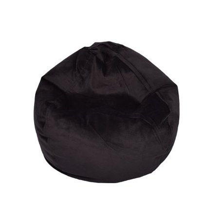Black Patent Bean Bag - Ace Bayou Large Textured Velvet Bean Bag, Available in Multiple Colors