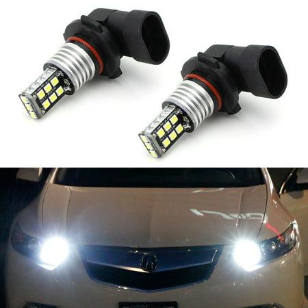 iJDMTOY Xenon White 15-SMD High Power 9005 HB3 LED High Beam Daytime Running Light Kit w/Decoder, Wirings For Acura ILX TSX MDX TL RL Honda Accord Civic CR-V CR-Z,