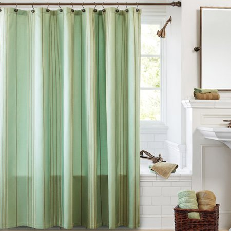 Better homes and gardens chenille fabric shower curtain collection for Better homes and gardens shower curtains