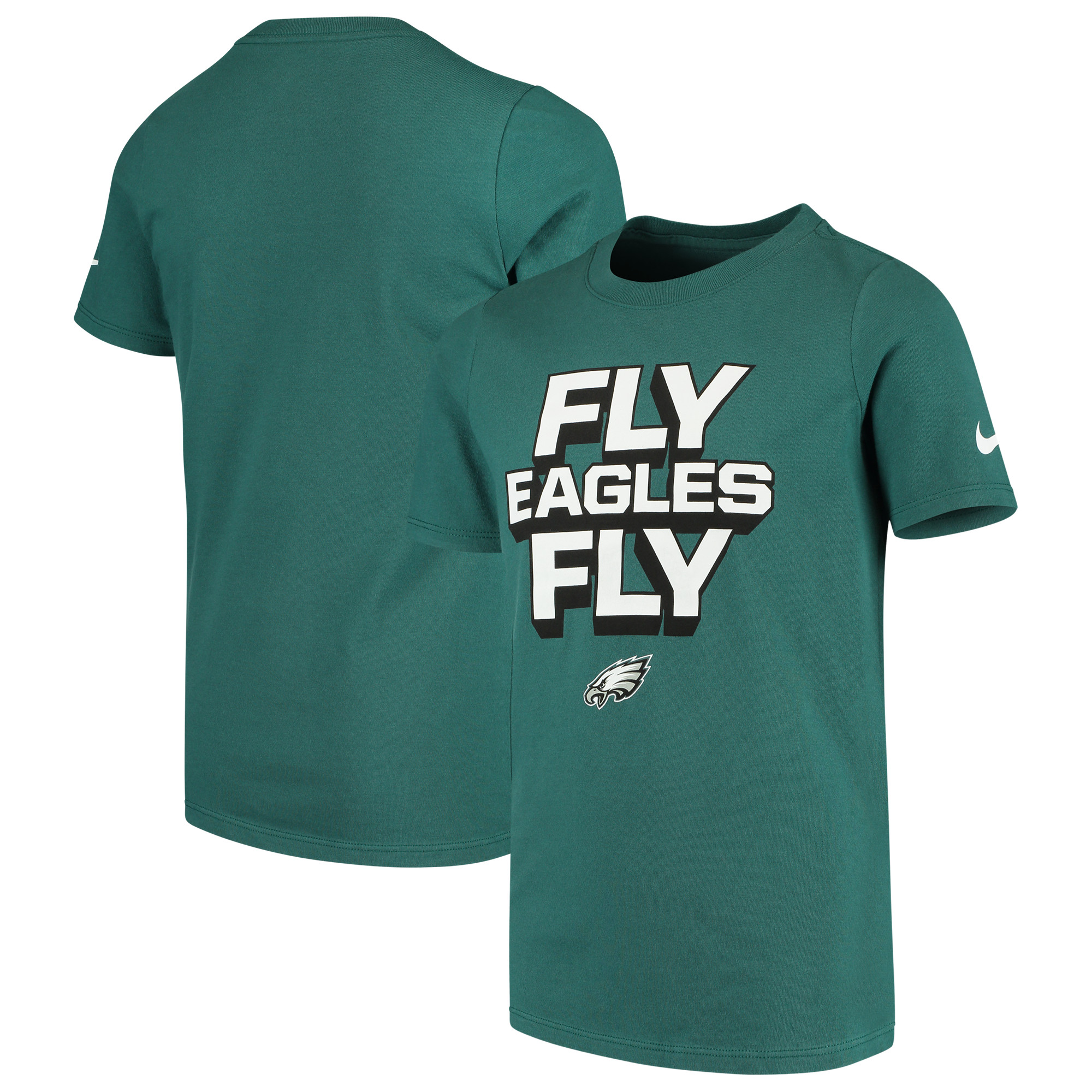 Philadelphia Eagles Nike Youth Hyperlocal Inspiration Performance T-Shirt - Midnight Green
