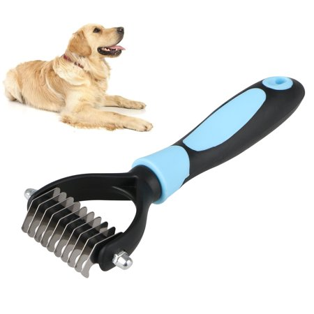 EEEKit Dog Pet Dematting Grooming Deshedding Trimmer Tool, Hair Thinning Comb Brush for Dogs, Double Sided Comb for Safe and Gentle Grooming