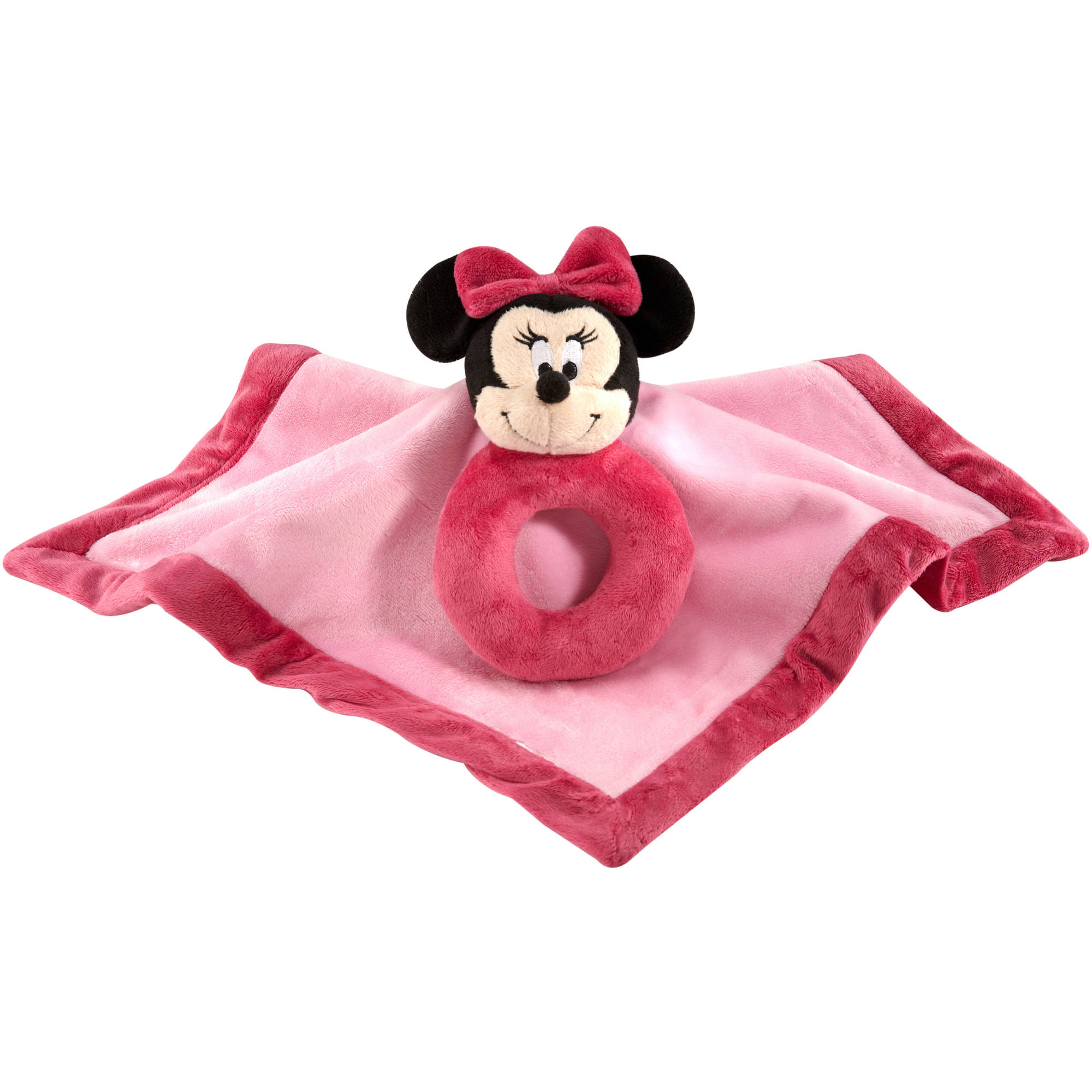 Disney Minnie Mouse Security Blanket with Ring Rattle