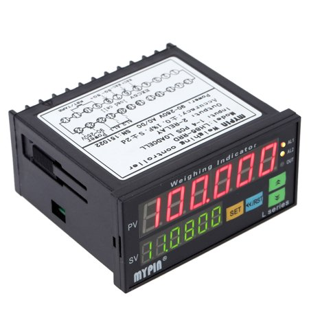 Digital Weighing Controller Load-cells Indicator 1-4 Load Cell Signals Input 2 Relay Output 6 Digits LED Display ()