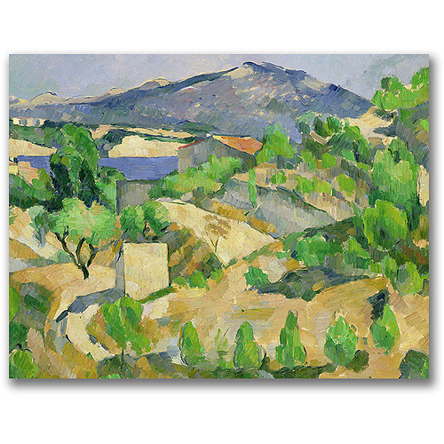"Trademark Fine Art ""Mountains In Provence"" Canvas Wall Art by Paul Cezanne"