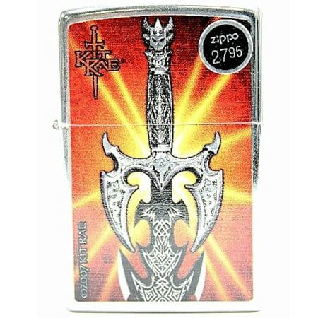 Zippo 24788 Kit Rae Kilgorin Sword Silver Lighter - Kit Rae Zippo