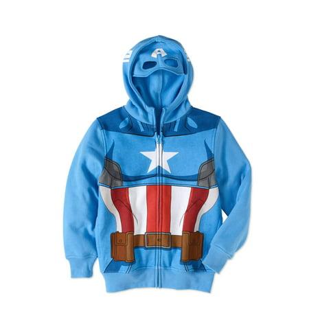 Marvel Captain America Boys' Costume Hoodie