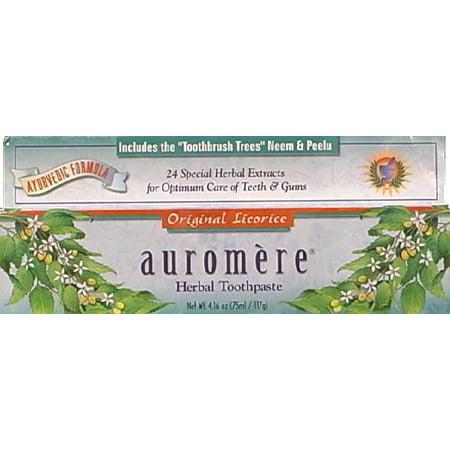 Auromere Herbal Toothpaste, Original Licorice, 4.16 Oz