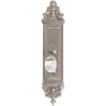 Interior Door Plate Privacy Set, 2.75 in. Backset - Satin Nickel - image 1 of 1