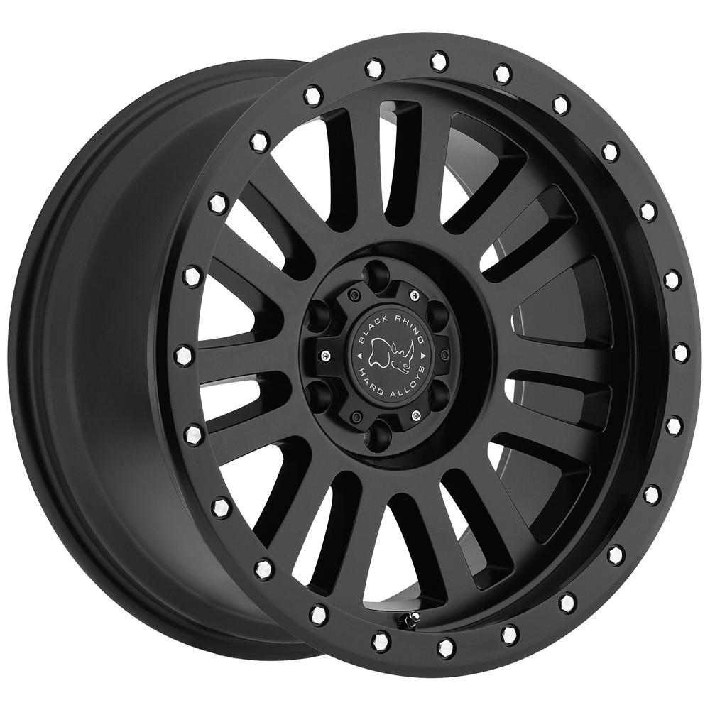"""Black Rhino El Cajon 17x9 5x127 (5x5"""") -12mm Matte Black Wheel Rim"""
