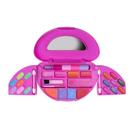 (Playkidz: My First Princess Makeup Chest, Girl's All-In-One Travel Cosmetic and Real Makeup Palette with Mirror (Washable))