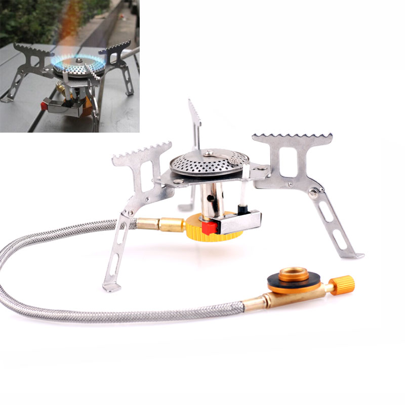 Outdoor 3500W Portable Gas Stove Butane Propane Burner for Camping Hiking Picnic
