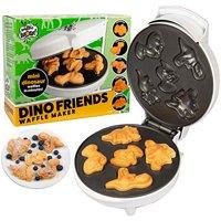 Dinosaur Mini Waffle Maker - Makes 7 Fun, Different Shaped Dino Pancakes - Electric Non-Stick Waffler
