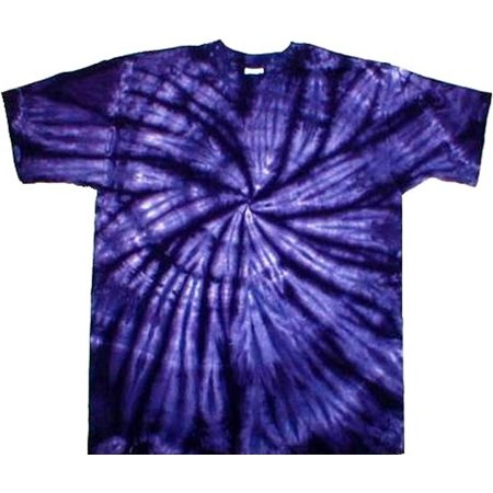 Tie Dyed Shop Purple Spiral Tie Dye T Shirt-Short Sleeve-Small