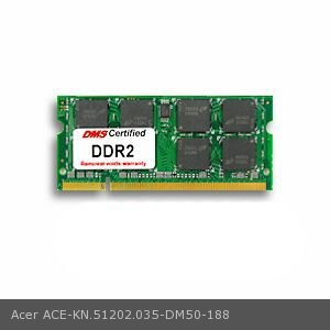 - DMS Compatible/Replacement for Acer KN.51202.035 Aspire 9802WKMi 512MB DMS Certified Memory 200 Pin  DDR2-667 PC2-5300 64x64 CL5 1.8V SODIMM - DMS