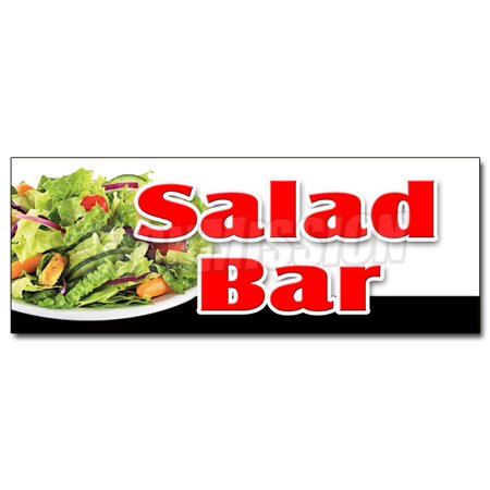 24 salad bar decal sticker dressing restaurant buffet. Black Bedroom Furniture Sets. Home Design Ideas