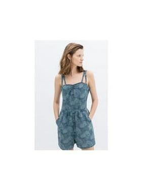 e0eb00f755b3 Product Image Women s Printed Elegant Blue Denim Jumpsuit Spaghetti Strap.  Unomatch