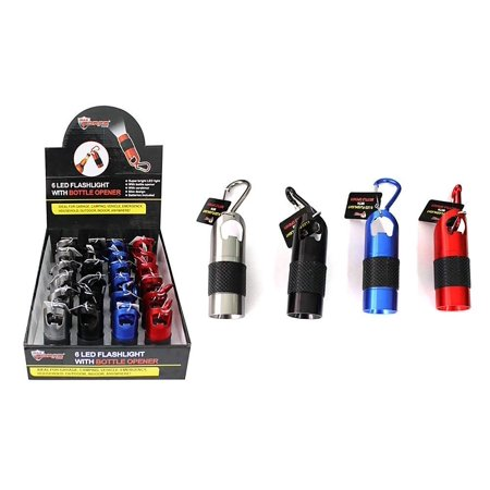 Diamond Visions Max Force 08-1217 LED Flashlight and Bottle Opener in Assorted Colors (1 Flashlight)