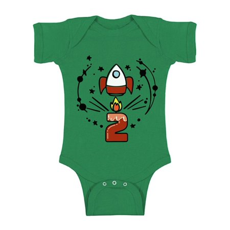 Awkward Styles Birthday Gift for 2 Years Old Rocket Space Baby Bodysuit Short Sleeve 2nd Birthday Party Space Themed Space Baby Bodysuit Rocket Little Spacehip Birthday Baby Boy Birthday Baby Girl](Gift For Two Year Old)