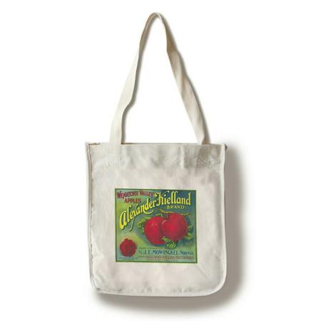Alexander Kielland Apple Label (100% Cotton Tote Bag - Reusable)