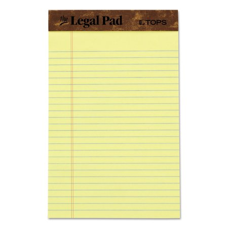 TOPS The Legal Pad Writing Pads, Jr. Legal Rule, 50 Sheets, Can, -