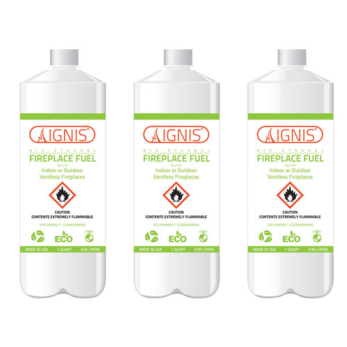 Bio Ethanol Fireplace Fuel - 3 Bottles