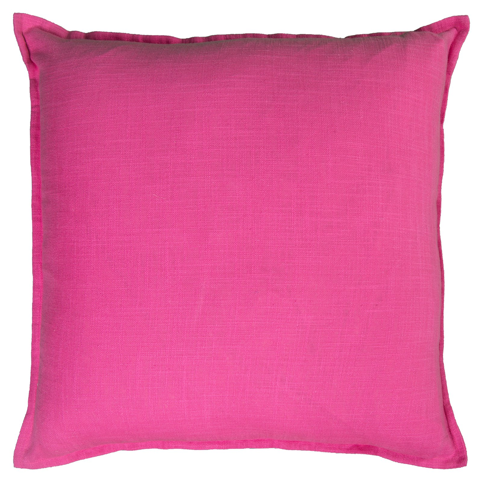 """Rizzy Home Solid Cotton Decorative Throw Pillow, 20"""" x 20"""", Hot Pink"""