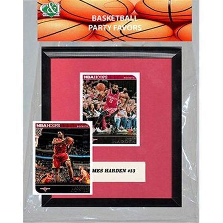 Candlcollectables 67LBROCKETS NBA Houston Rockets Party Favor With 6 x 7 Mat and Frame