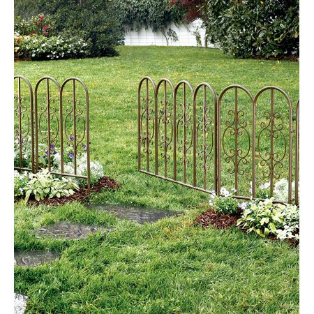 Montebello Outdoor Decorative Fence with Gate in Gunmetal ()
