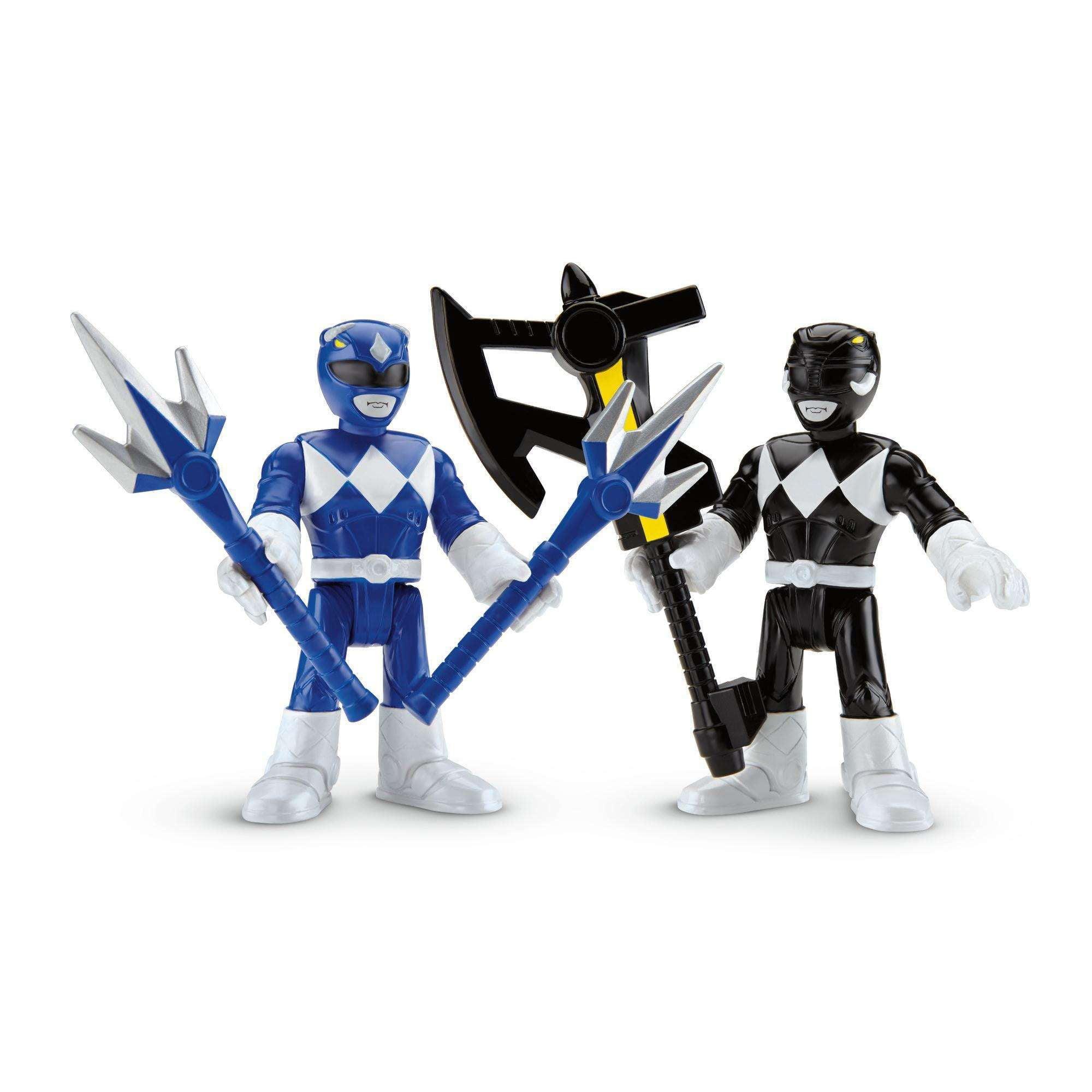 IMaginext Power Rangers Blue Ranger & Black Ranger by FISHER PRICE