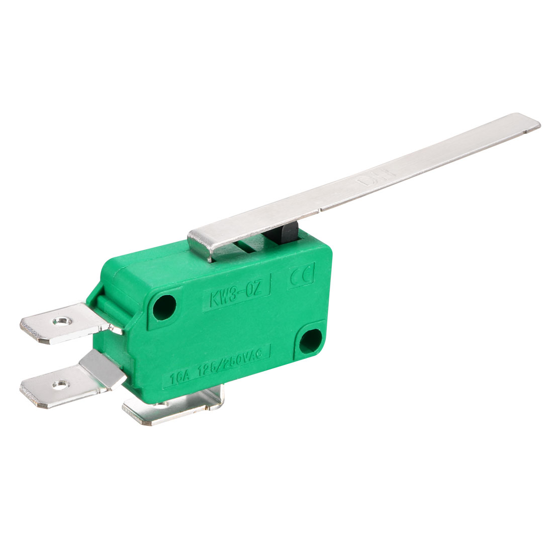 12PCS KW3-OZ 16A 125/250VAC Long Straight Hinge Lever Type Micro Limit Switches - image 1 of 4