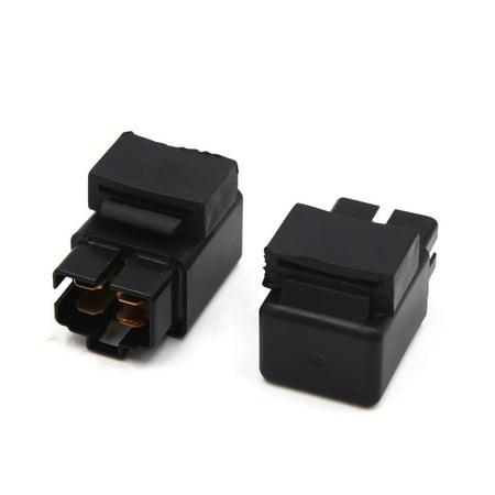 Module Relais d'alimentation Prise Noir 2PCS 4 Passage Terminal pour Voiture - image 2 de 2