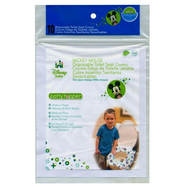 Disney Mickey Mouse Potty Topper Toilet Training Seat Cover 10 Count Walmart Com Walmart Com