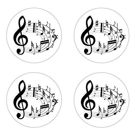 Music Notes Edible Cupcake Toppers Decoration, Easy to Use; Instructions on How to Apply & Store Toppers Included By Sweetn Treats - Music Note Decorations