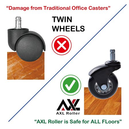 Office Chair Caster Wheels Replacement Heavy Duty For Ikea With Rollerblade Style Soft Rubber
